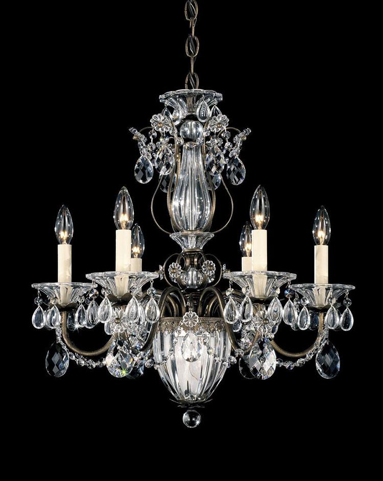 Modello di lampadario in ferro battuto da soffitto n.11