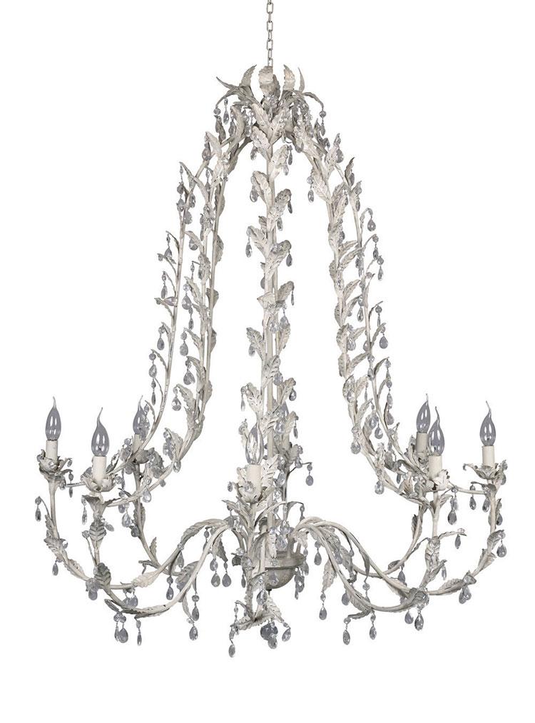 Modello di lampadario in ferro battuto da soffitto n.13