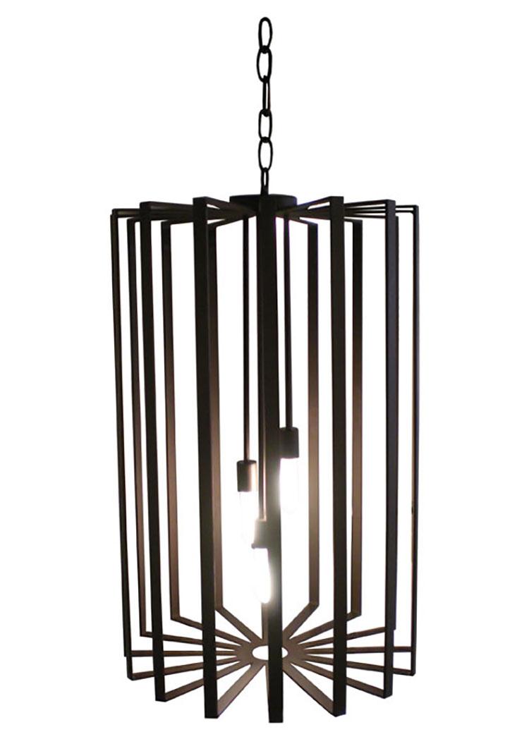 Modello di lampadario in ferro battuto da soffitto n.20