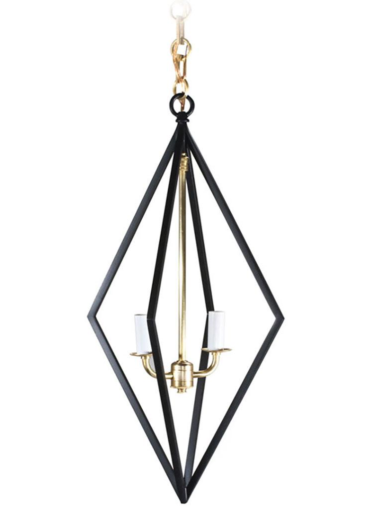 Modello di lampadario in ferro battuto da soffitto n.21