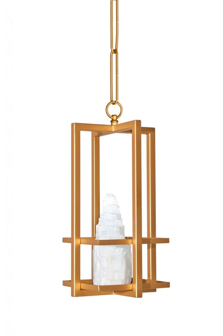 Modello di lampadario in ferro battuto da soffitto n.22