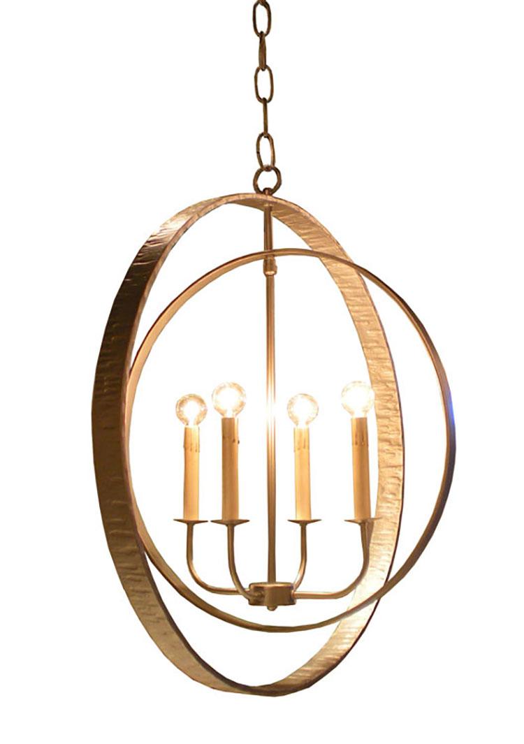 Modello di lampadario in ferro battuto da soffitto n.23
