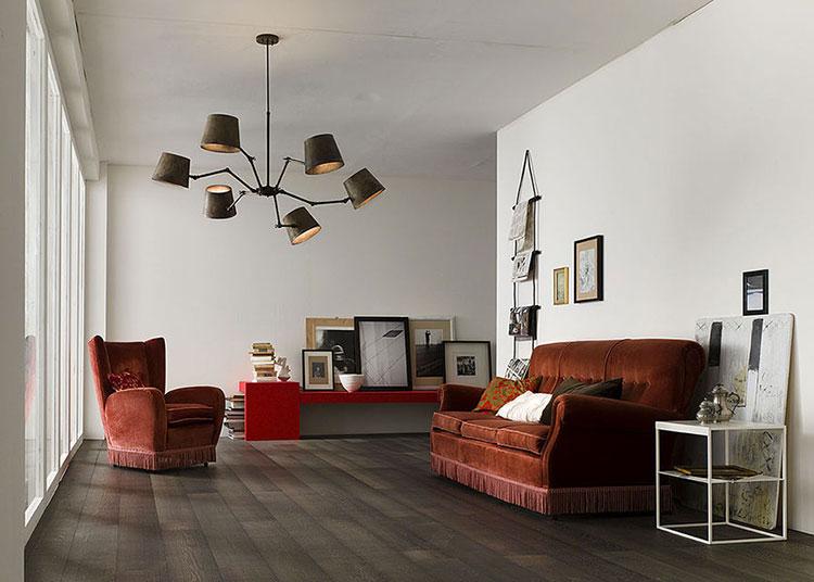 Modello di lampadario in ferro battuto da soffitto n.25