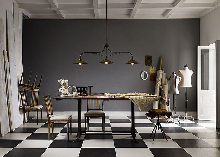 Modello di lampadario in ferro battuto da soffitto n.26
