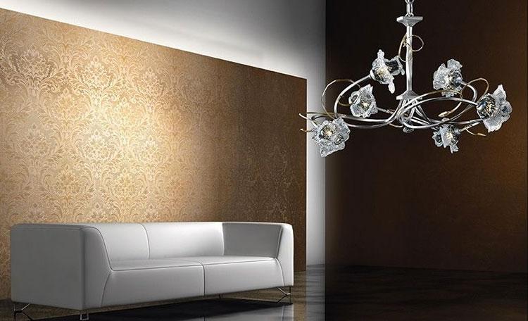 Modello di lampadario in ferro battuto da soffitto n.27