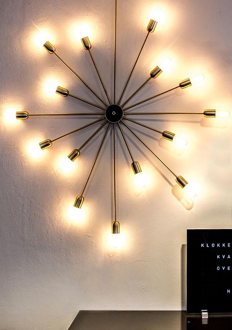 Modello di lampadario in ferro battuto da soffitto n.30