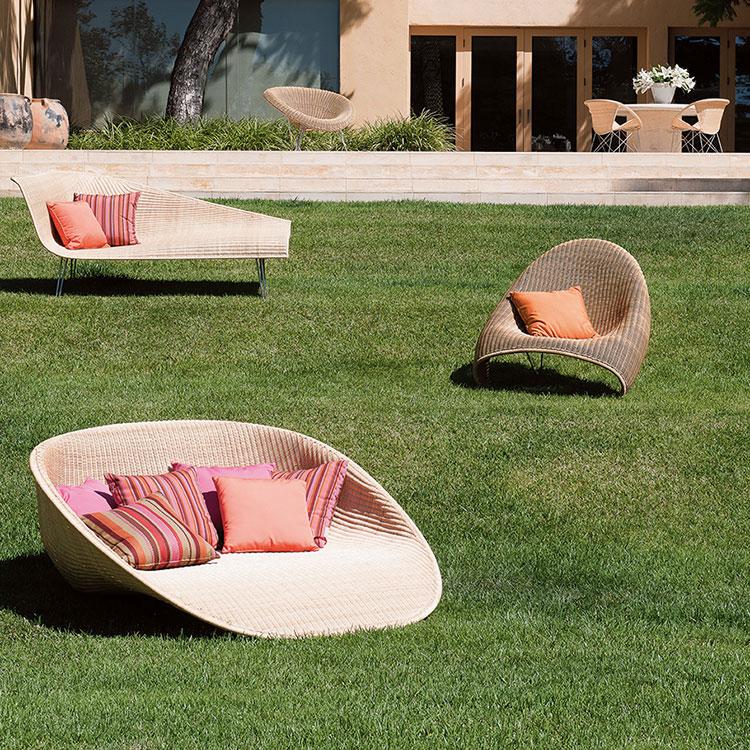 Modello di salotto da giardino in rattan n.26
