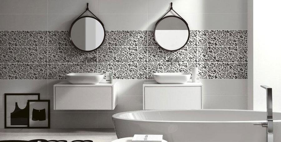 Idee per bagno nero e bianco