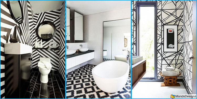 bagno bianco e nero: 20 idee di arredo originali | mondodesign.it - Arredo Bagno Idee Originali
