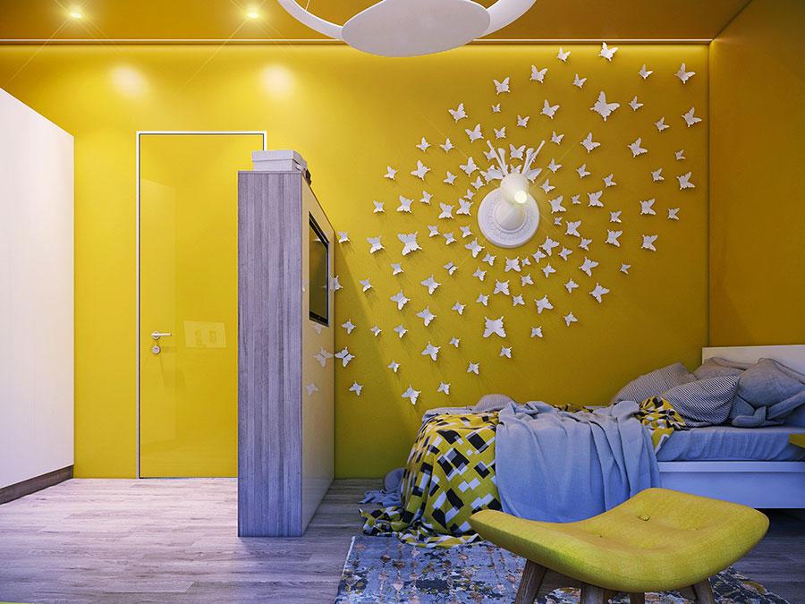 Idee per camerette con pareti gialle n.1