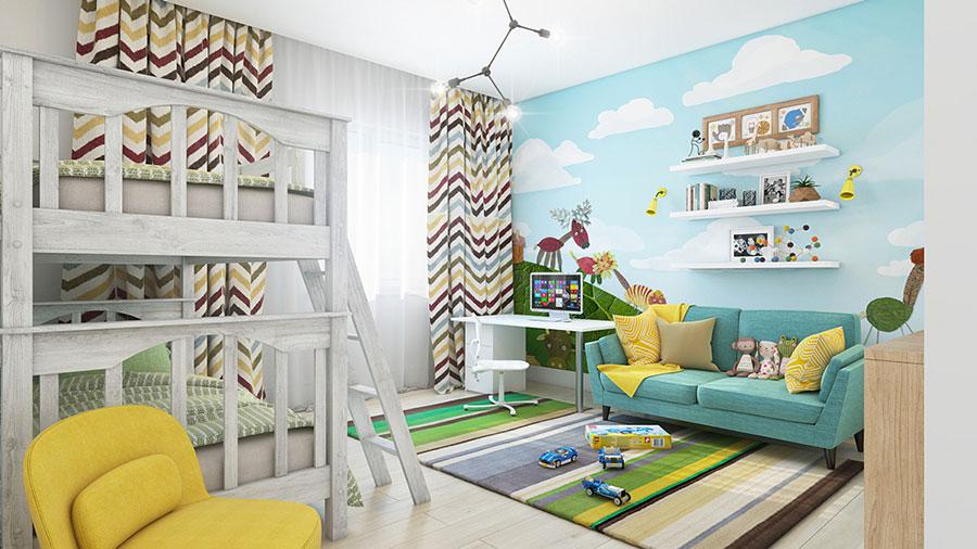 Decorazioni Per Camerette Per Bambini : Idee per decorare le pareti delle camerette dei bambini