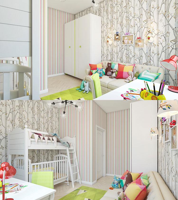 25 idee per decorare le pareti delle camerette dei bambini for Decorazioni pareti