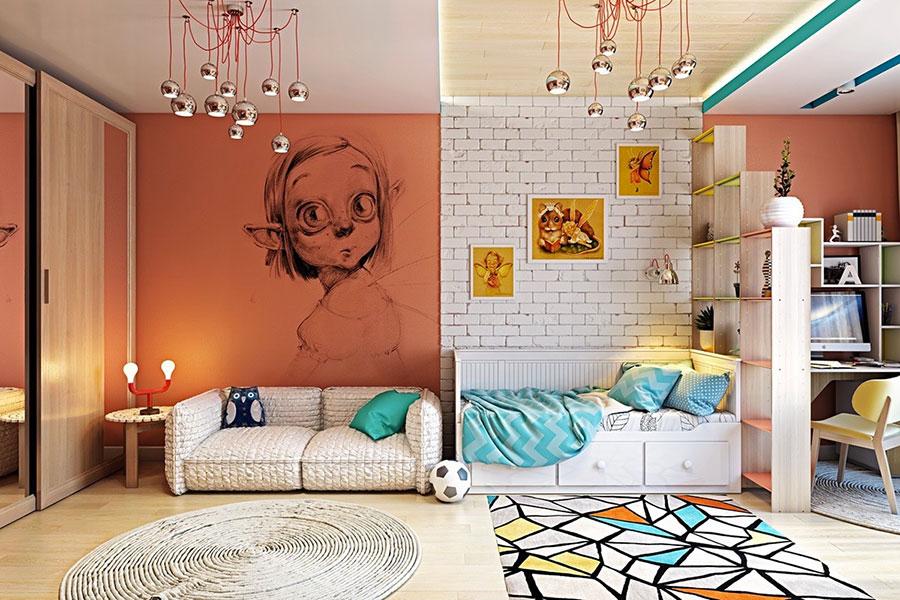 25 idee per decorare le pareti delle camerette dei bambini