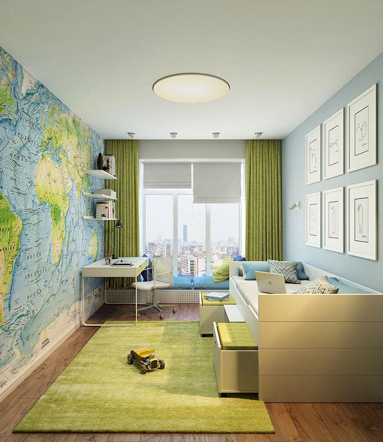 25 idee per decorare le pareti delle camerette dei bambini for Decorazioni per camerette
