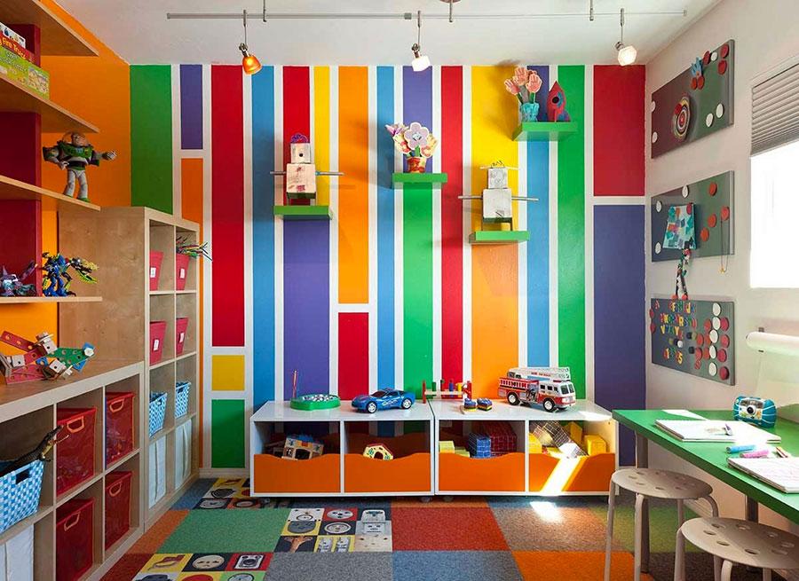 Idee per camerette con pareti multicolire n.1