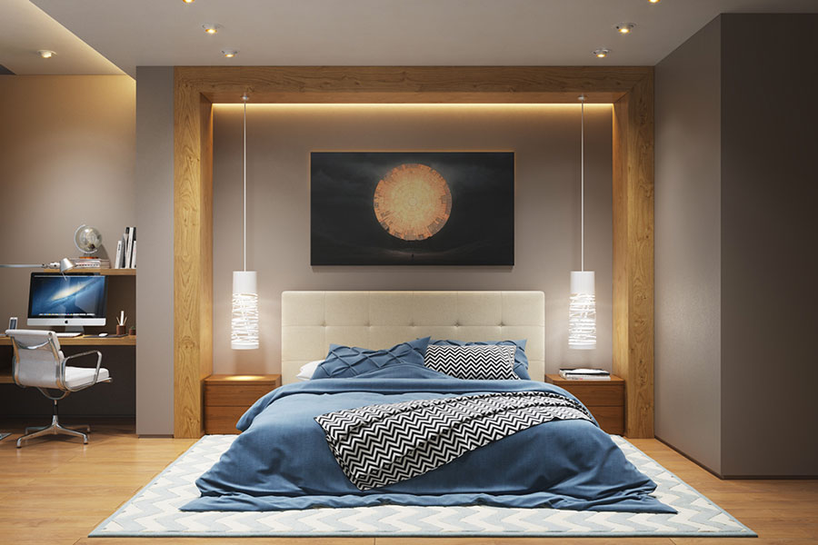 Idea per illuminare la camere da letto in maniera originale n.03