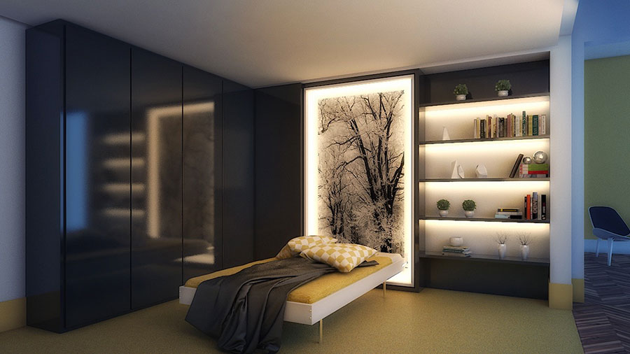 Idea per illuminare la camere da letto in maniera originale n.08