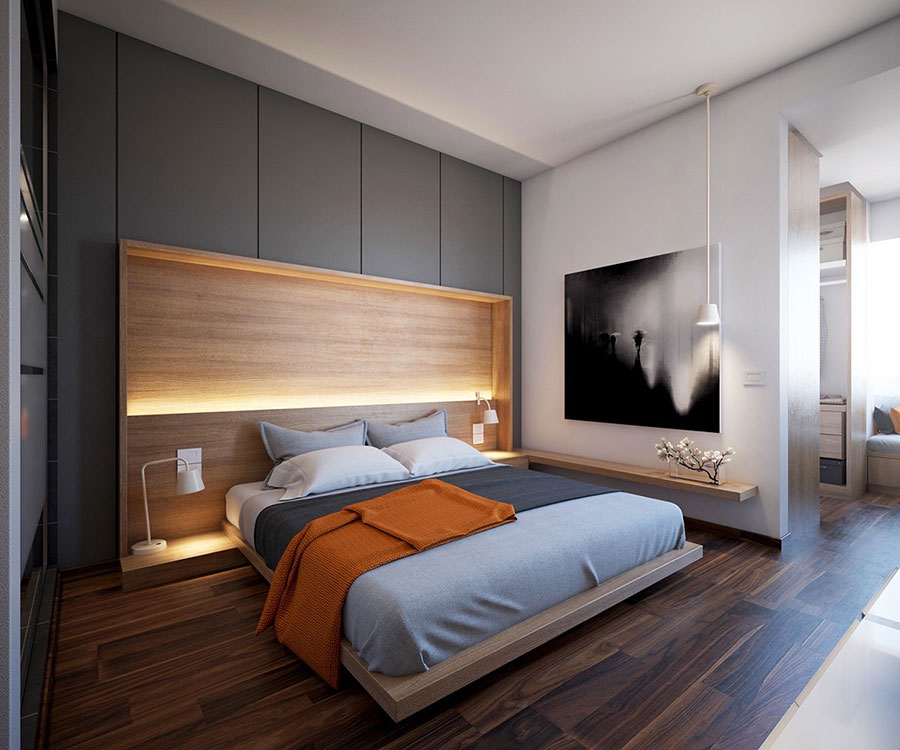 Idea per illuminare la camere da letto in maniera originale n.12