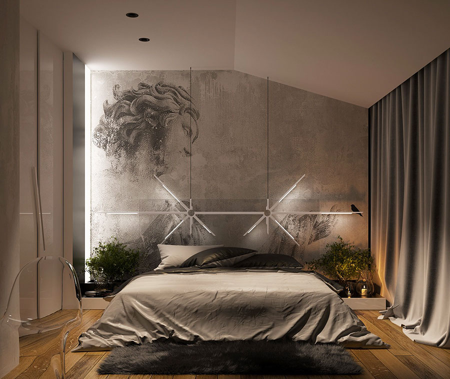 Idea per illuminare la camere da letto in maniera originale n.16