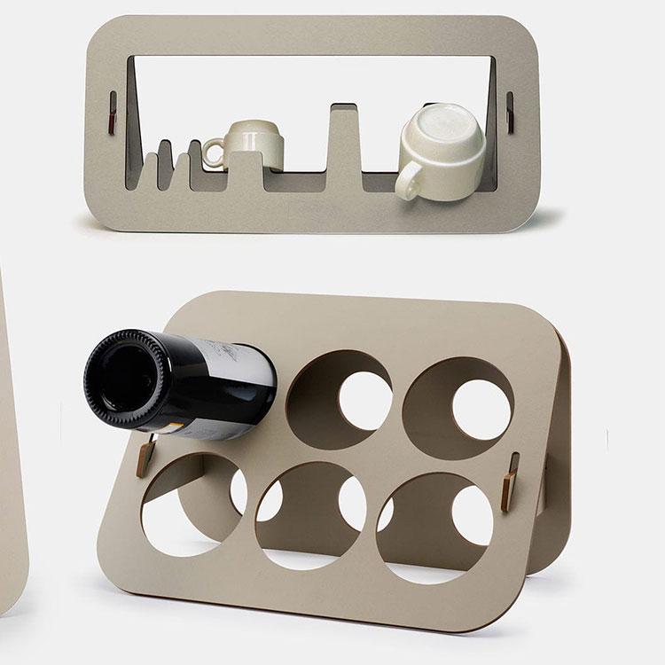 Modello di portabottiglie di design n.08