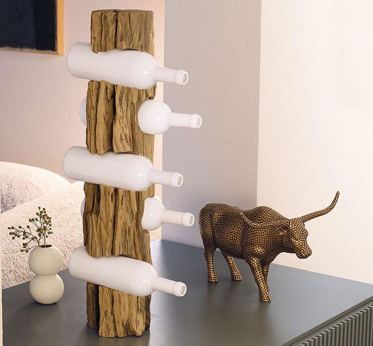 Modello di portabottiglie di design da tavolo n.05