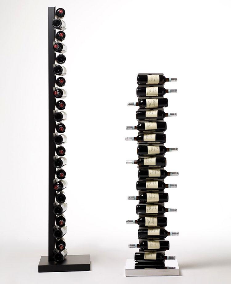 Modello di portabottiglie di design da terra n.01