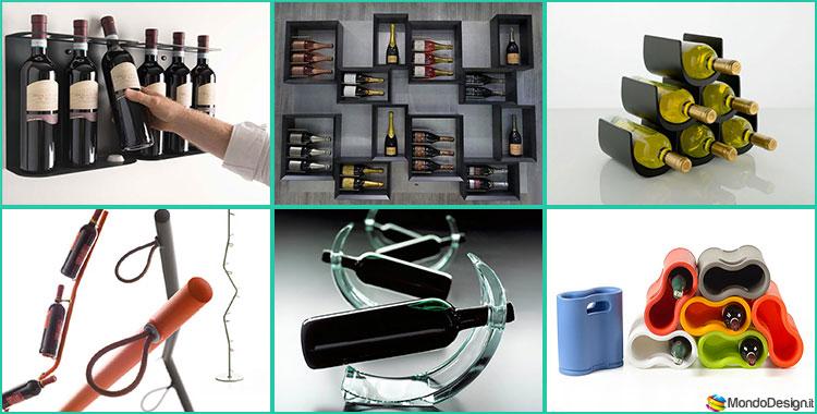 Modelli di portabottiglie da parete di design