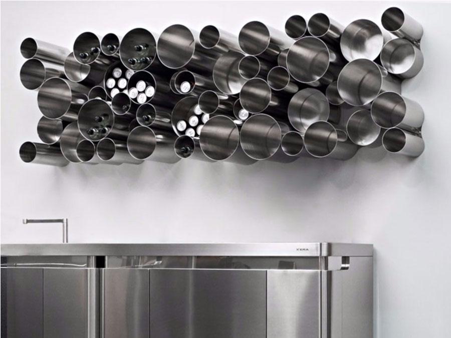 Modello di portabottiglie di design da parete 02