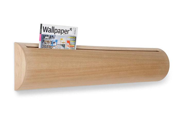 Modello di portariviste in legno moderno n.03