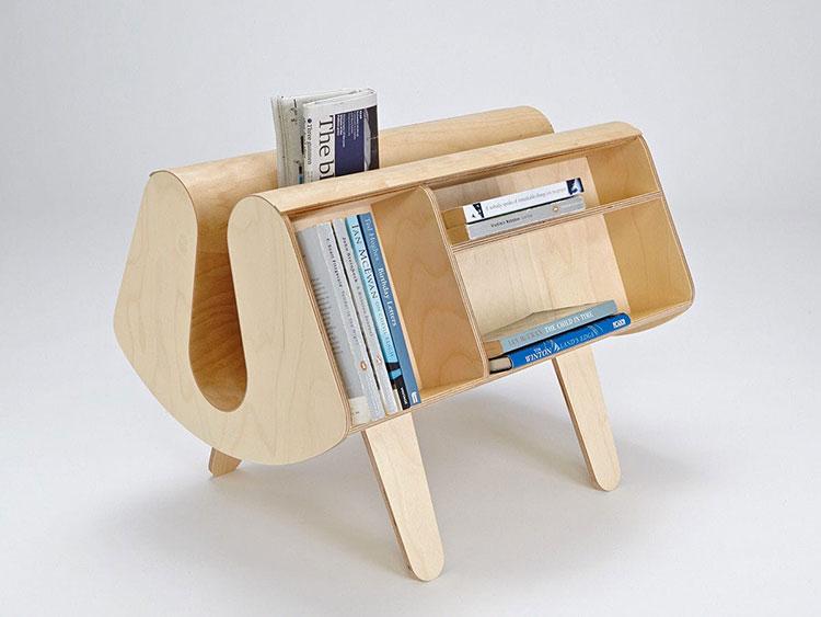 Modello di portariviste in legno moderno n.09