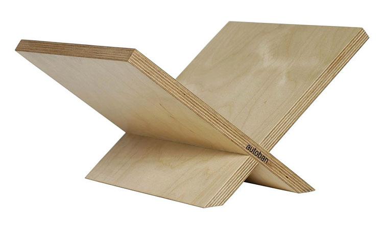 Modello di portariviste in legno moderno n.10