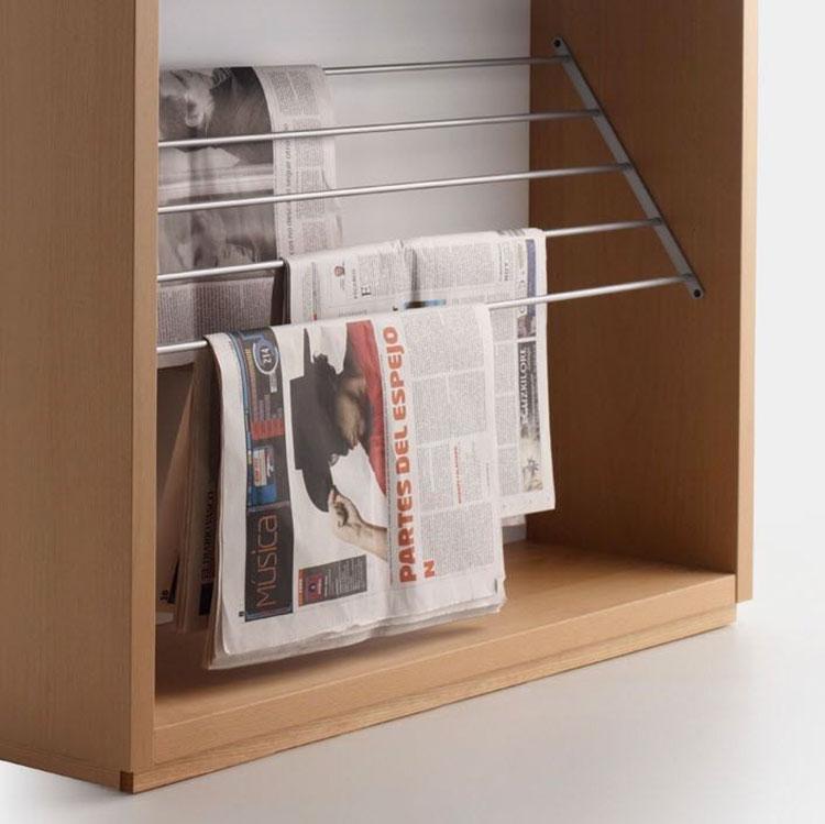 Modello di portariviste in legno moderno n.13