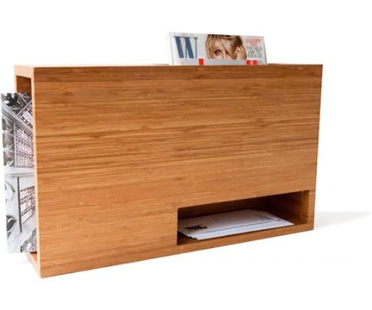 Modello di portariviste in legno moderno n.14