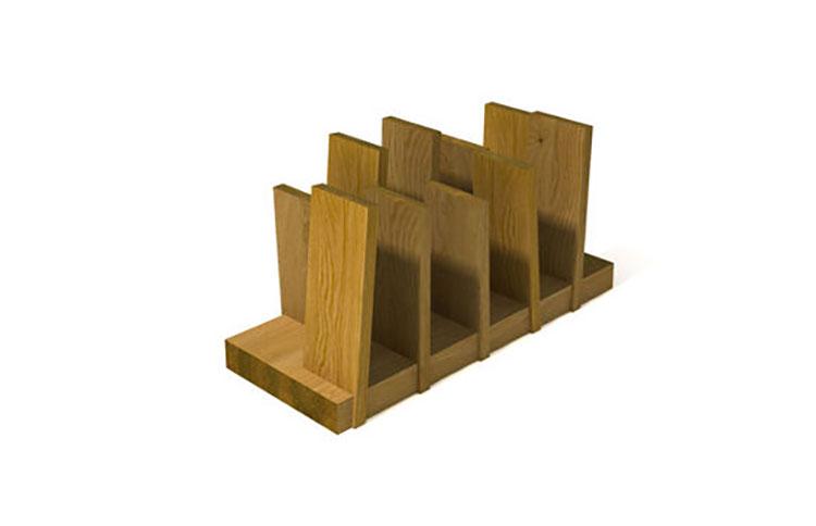 Modello di portariviste in legno moderno n.18
