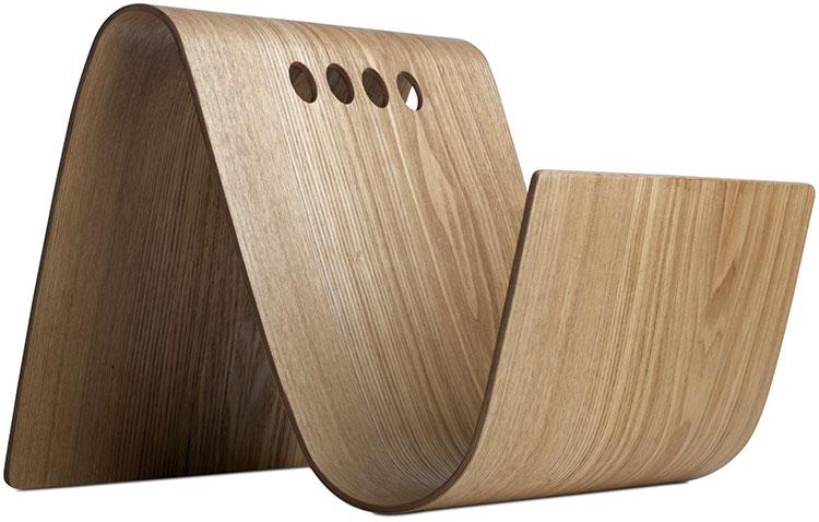 Modello di portariviste in legno moderno n.21