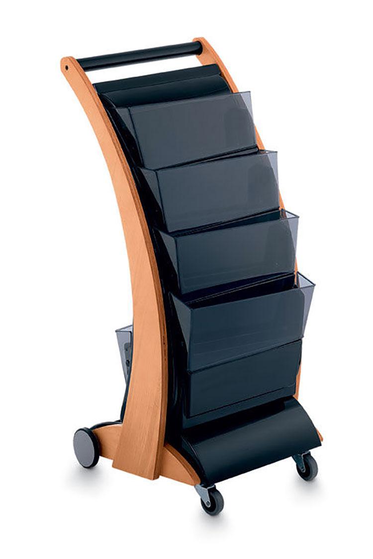 Modello di portariviste in legno moderno n.25