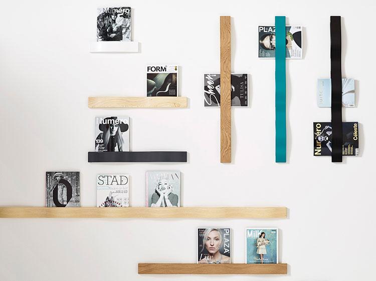 Modello di portariviste da parete dal design moderno n.01