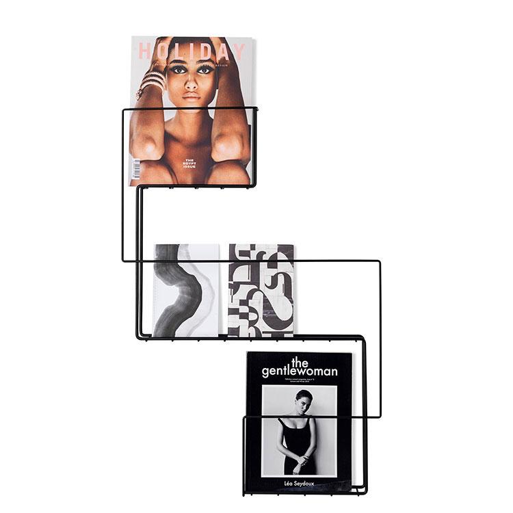 Modello di portariviste da parete dal design moderno n.03