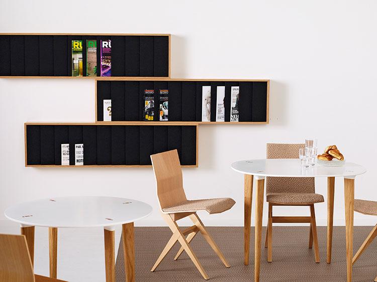 Modello di portariviste da parete dal design moderno n.08