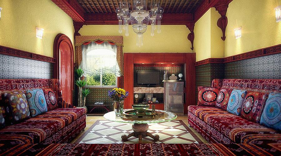 Idee per arredare un salotto marocchino n.01