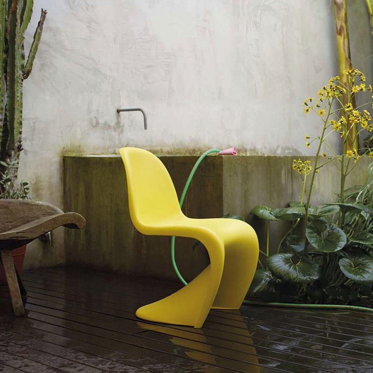 Sedie da esterno moderne in plastica n.19