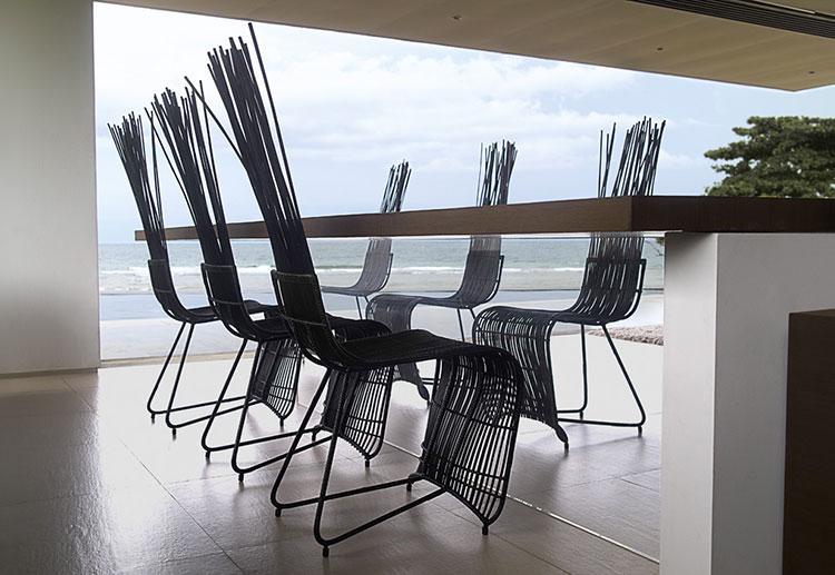 Sedie da esterno moderne in plastica n.21