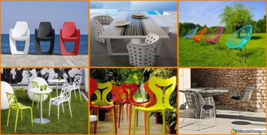Sedie da Giardino in Plastica dal Design Moderno