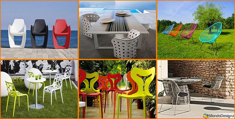 Sedie Plastica Giardino Design Moderno