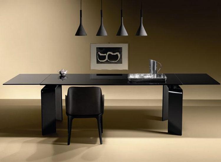 Modello di tavolo in vetro allungabile dal design moderno n.04