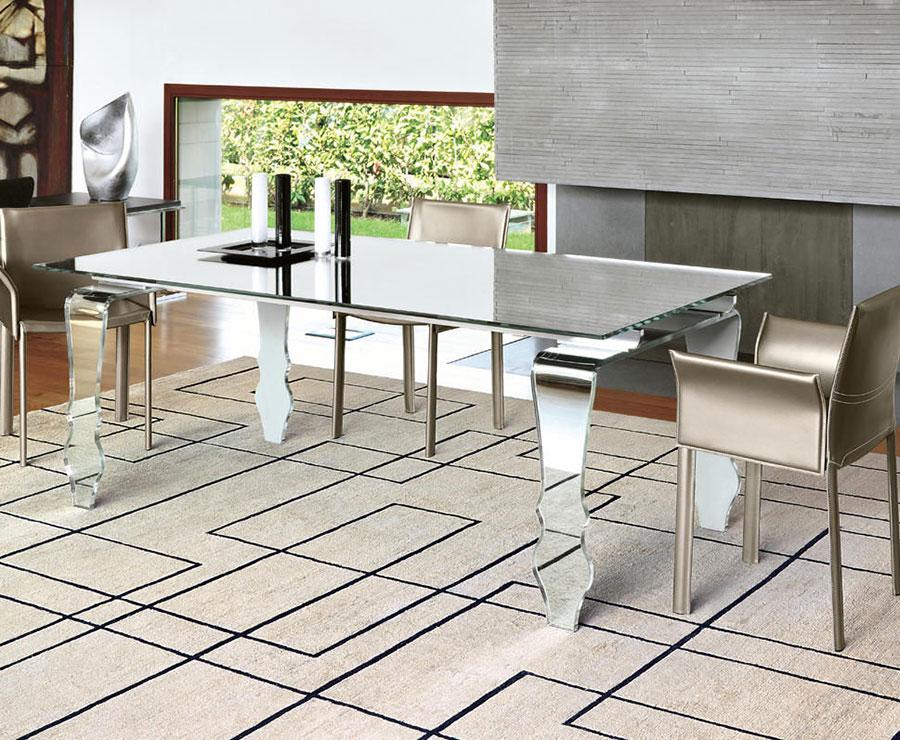 Modello di tavolo in vetro allungabile dal design moderno n.22