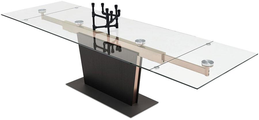 Modello di tavolo in vetro allungabile dal design moderno n.23