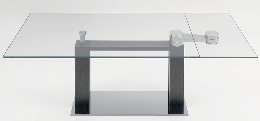 Modello di tavolo in vetro allungabile dal design moderno n.25