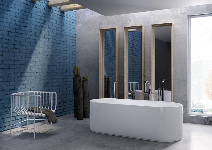 Modello di vasca da bagno piccolo e moderna n.03