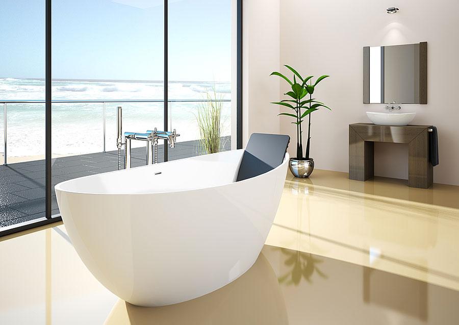 Modello di vasca da bagno piccolo e moderna n.08
